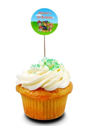 Paw Patrol Cupcake Picks/Toppers